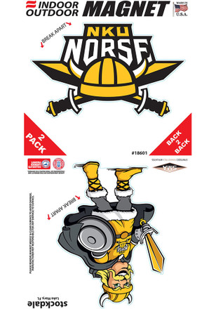 Northern Kentucky Norse 2 Pack Car Accessory Car Magnet