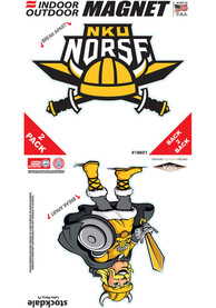 Northern Kentucky Norse 2 Pack Car Magnet - Black