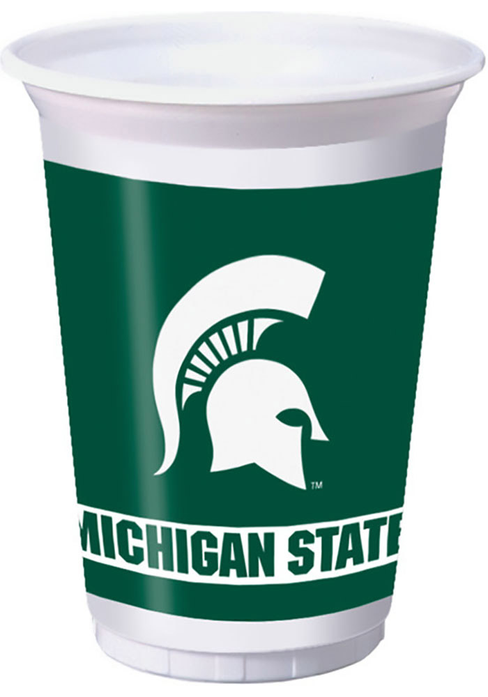 Michigan State Spartans 8pk 20oz Disposable Cups, Green, Paper