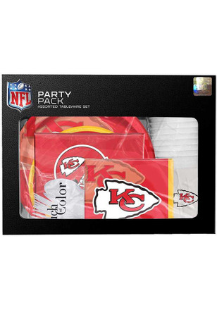 Kansas City Chiefs Tableware Red Party Pack