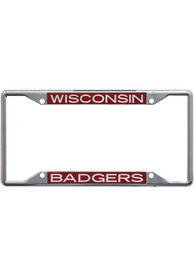 Wisconsin Badgers Team Name Inlaid License Frame