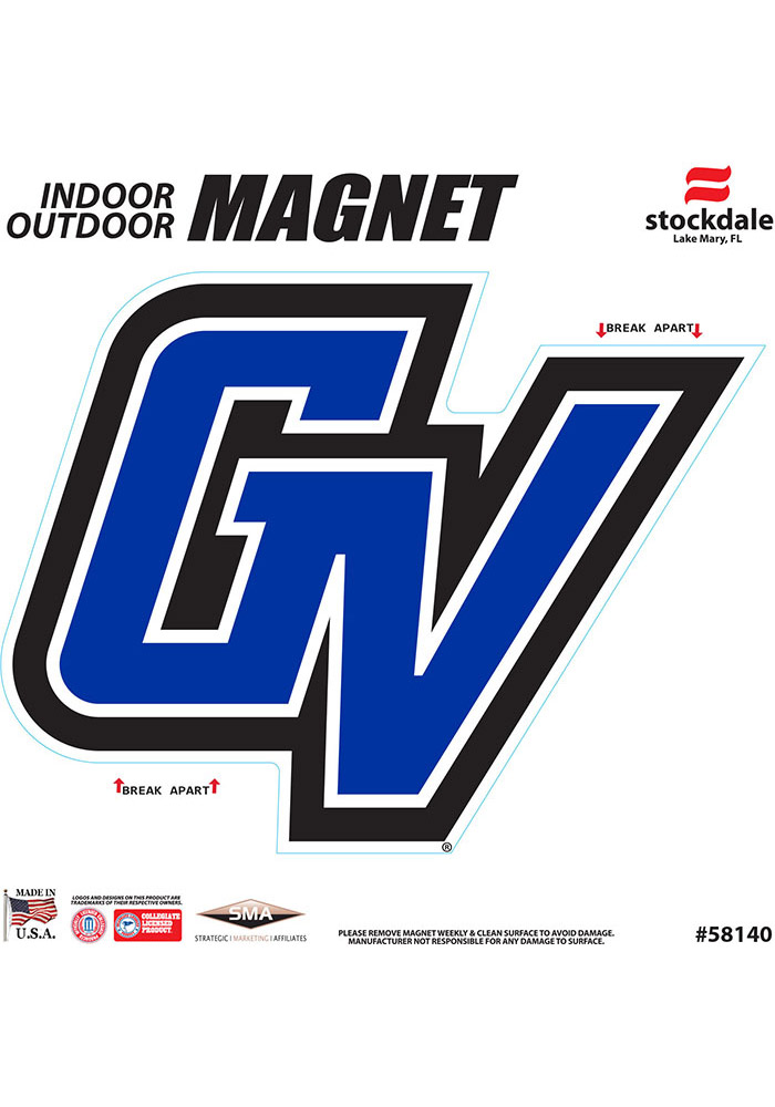 Grand Valley State Lakers 6x6 Car Magnet - Blue