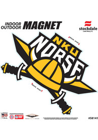 Northern Kentucky Norse 6x6 Car Magnet - Red