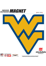 West Virginia Mountaineers 6x6 Car Magnet - Blue