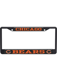 Chicago Bears Carbon Logo License Frame
