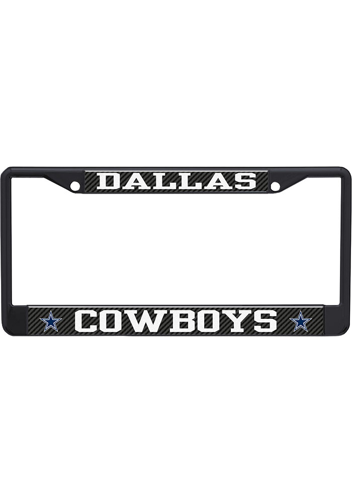 Dallas Cowboys Carbon Logo License Frame - Image 1