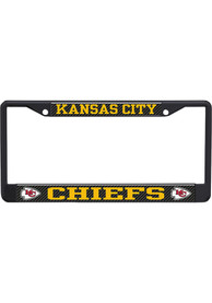 Kansas City Chiefs Carbon Logo License Frame