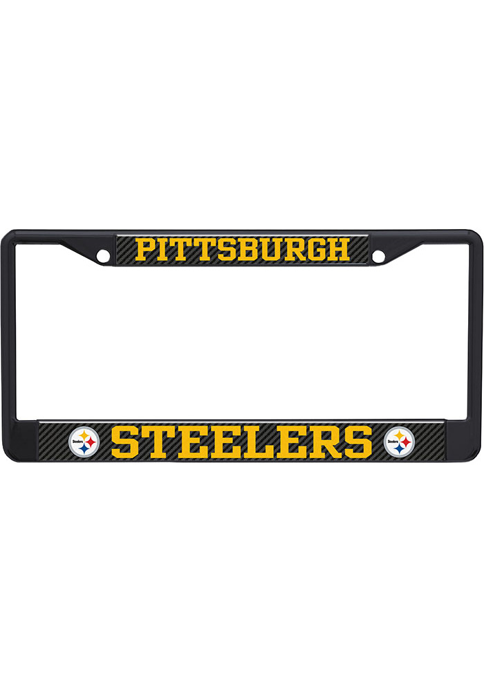 Pittsburgh Steelers Carbon Logo License Frame - Image 1