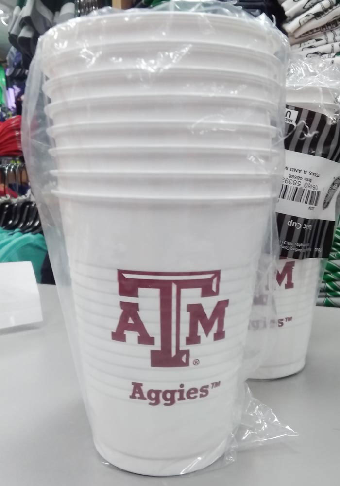 Texas A&M Aggies 16oz 8 pack Disposable Cups - Image 1