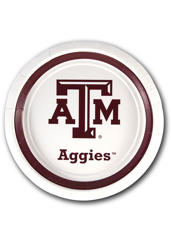 Texas A&M Aggies 7 inch 12 pack Paper Plates - Image 1