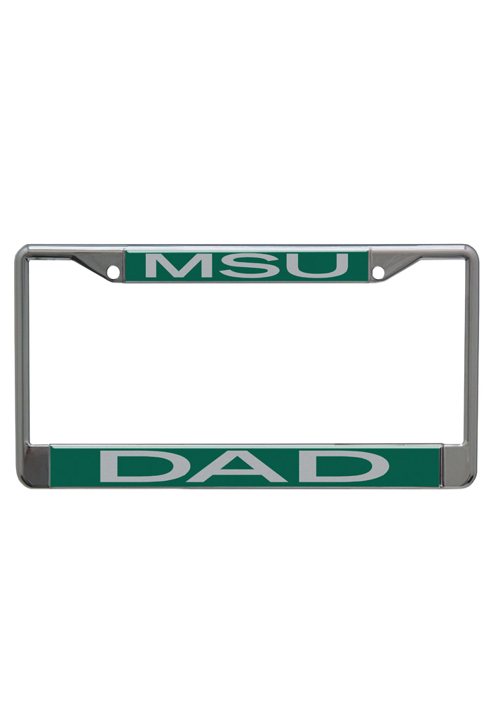 Michigan State Spartans Dad Chrome License Frame - Image 1