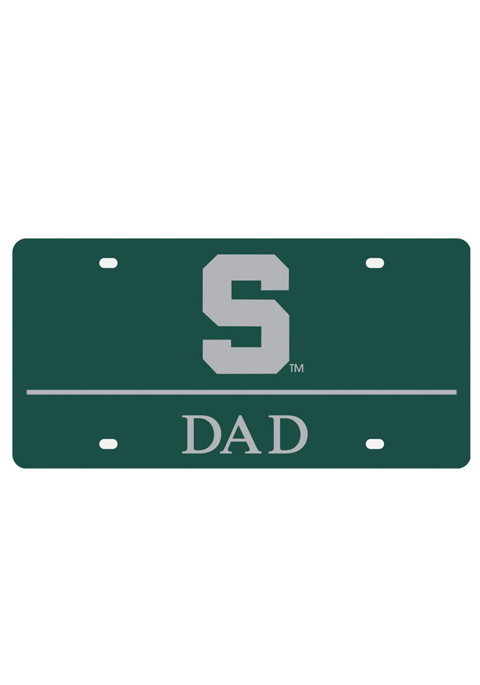 Michigan State Spartans Dad Car Accessory License Plate - Image 1