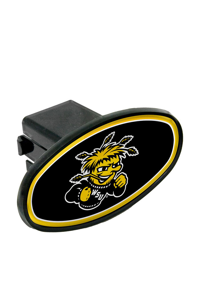 Wichita State Shockers Plastic Oval Car Accessory Hitch Cover - Image 1