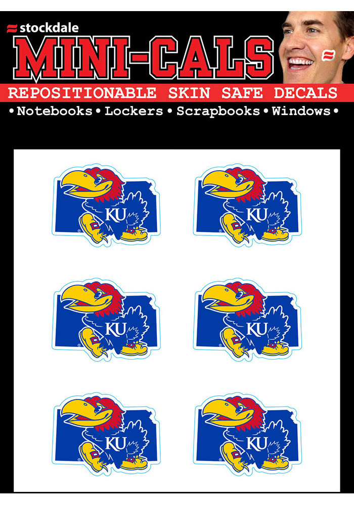 Kansas Jayhawks 6pk State Shape Tattoo
