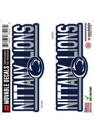 Penn State Nittany Lions 2 Pk 6x6 Team Color DuoTone Auto Decal - Navy Blue