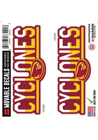 Iowa State Cyclones 2 Pk 6x6 Team Color DuoTone Auto Decal - Red