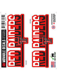Texas Tech Red Raiders 2 Pk 6x6 Team Color DuoTone Auto Decal - Red