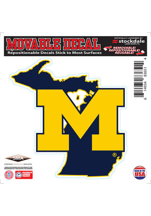 Michigan Wolverines State Shape Team Color Decal