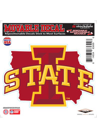 Iowa State Cyclones State Shape Team Color Auto Decal - Cardinal