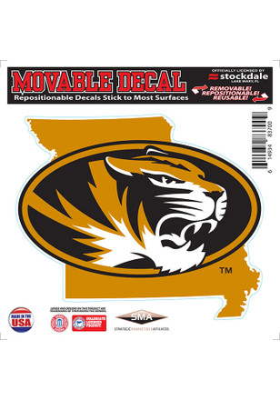 Missouri Tigers State Shape Team Color Decal