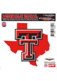 Texas Tech Red Raiders State Shape Team Color Auto Decal - Red