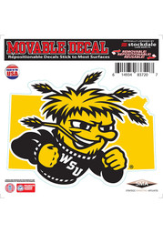 Wichita State Shockers State Shape Team Color Auto Decal - Black