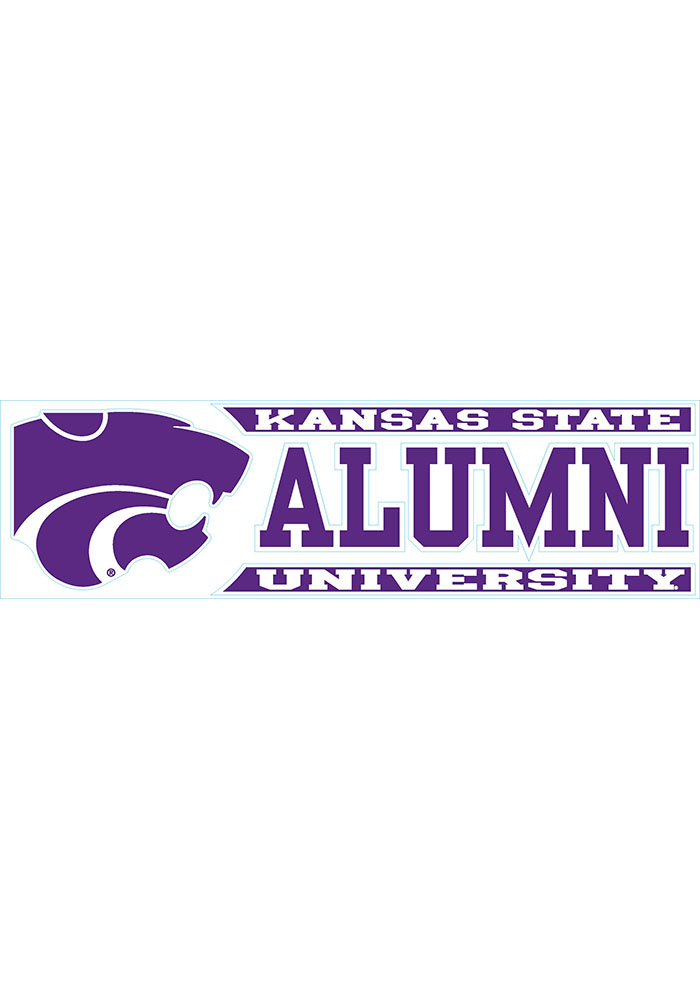 K-State Wildcats 3x10 Alumni Auto Decal - Purple - Image 1