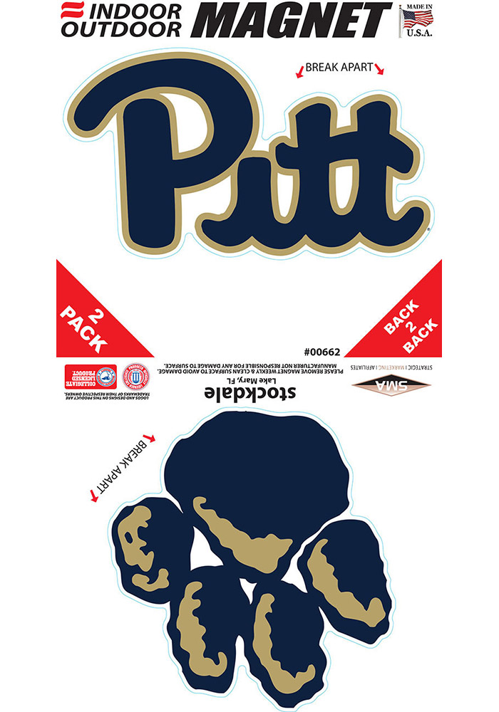 38ac9d21679 Pitt Panthers 2 Pack Car Magnet - Blue - 16371832