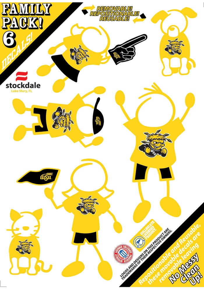 Wichita State Shockers 5x7 Family Pack Decal - Image 1