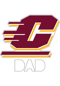 Central Michigan Chippewas Dad Auto Decal - Yellow