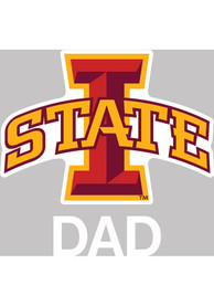 Iowa State Cyclones Dad Auto Decal - Cardinal