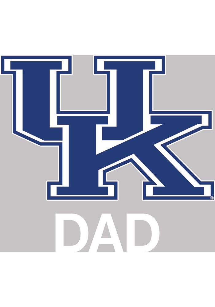 Kentucky Wildcats Dad Auto Decal - Blue - Image 1