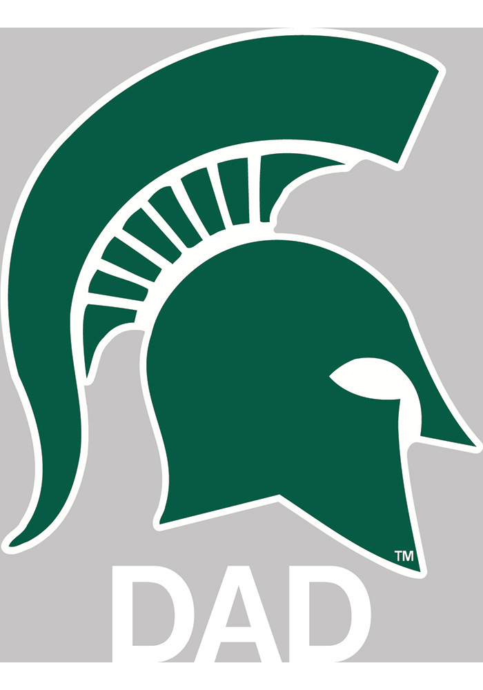 Michigan State Spartans Dad Auto Decal - Green - Image 1