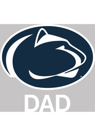 Penn State Nittany Lions Dad Auto Decal - Navy Blue