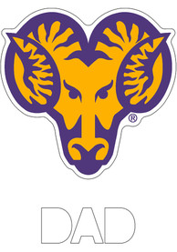 West Chester Golden Rams Dad Auto Decal - Yellow