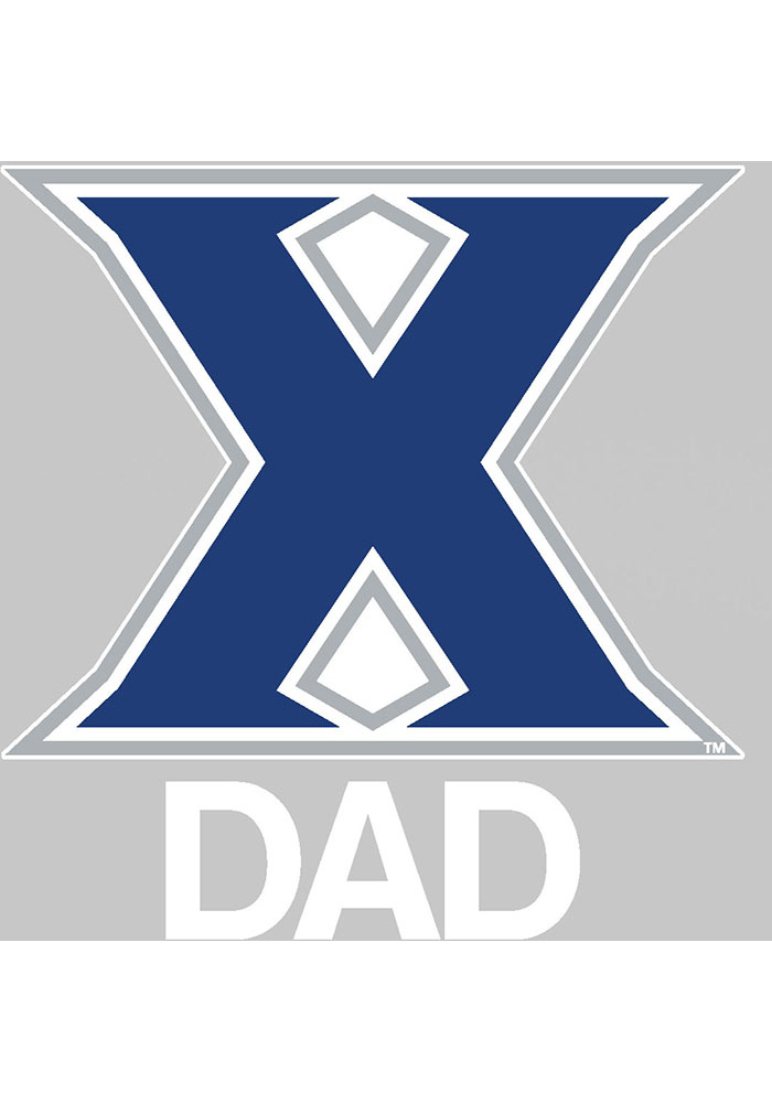 Xavier Musketeers Dad Auto Decal - Navy Blue