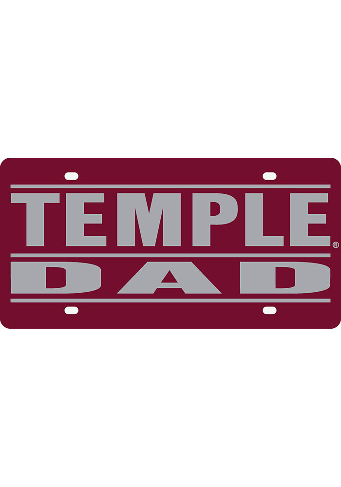 Temple Owls Dad Car Accessory License Plate