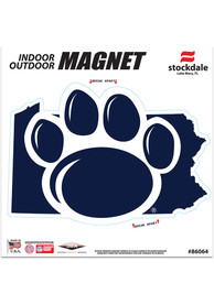 Penn State Nittany Lions State Shape Team Color Car Magnet - Navy Blue