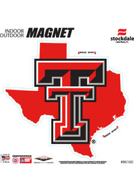 Texas Tech Red Raiders State Shape Team Color Car Magnet - Red