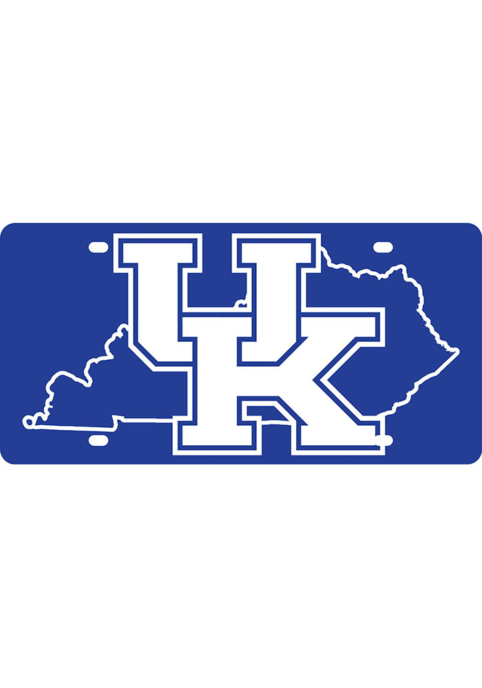 Kentucky Wildcats State Shape Team Color Car Accessory License Plate - Image 1