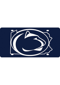 Penn State Nittany Lions State Shape Team Color Car Accessory License Plate