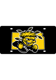 Wichita State Shockers State Shape Team Color Car Accessory License Plate