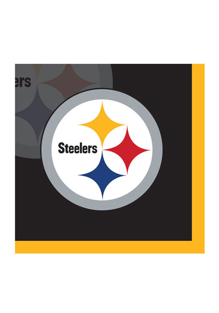 Pittsburgh Steelers 16 Pack Beverage Napkins 16372172