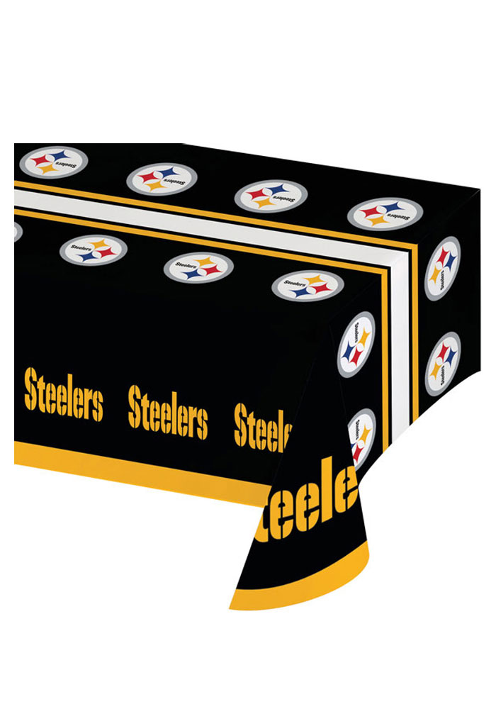 Pittsburgh Steelers 54x102 Plastic Tablecloth - Image 1