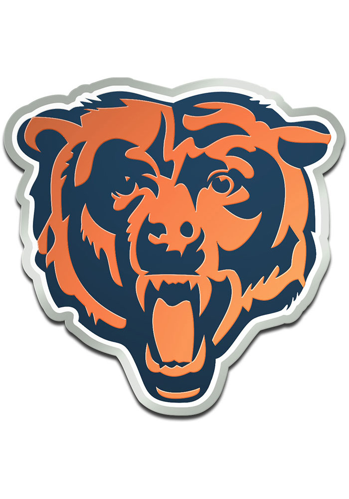 Chicago Bears 3.2x3.2 Acrylic Metallic Car Emblem - Navy Blue - Image 1