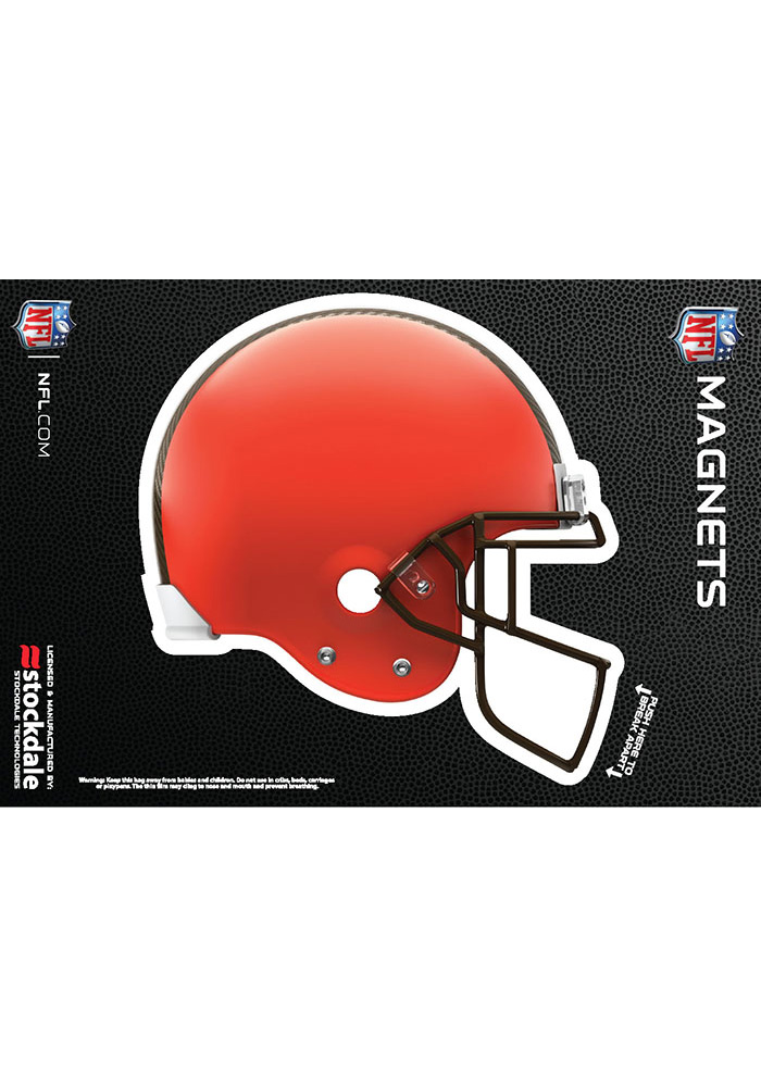 Cleveland Browns 3x5 3D Helmet Car Magnet - Orange - Image 1