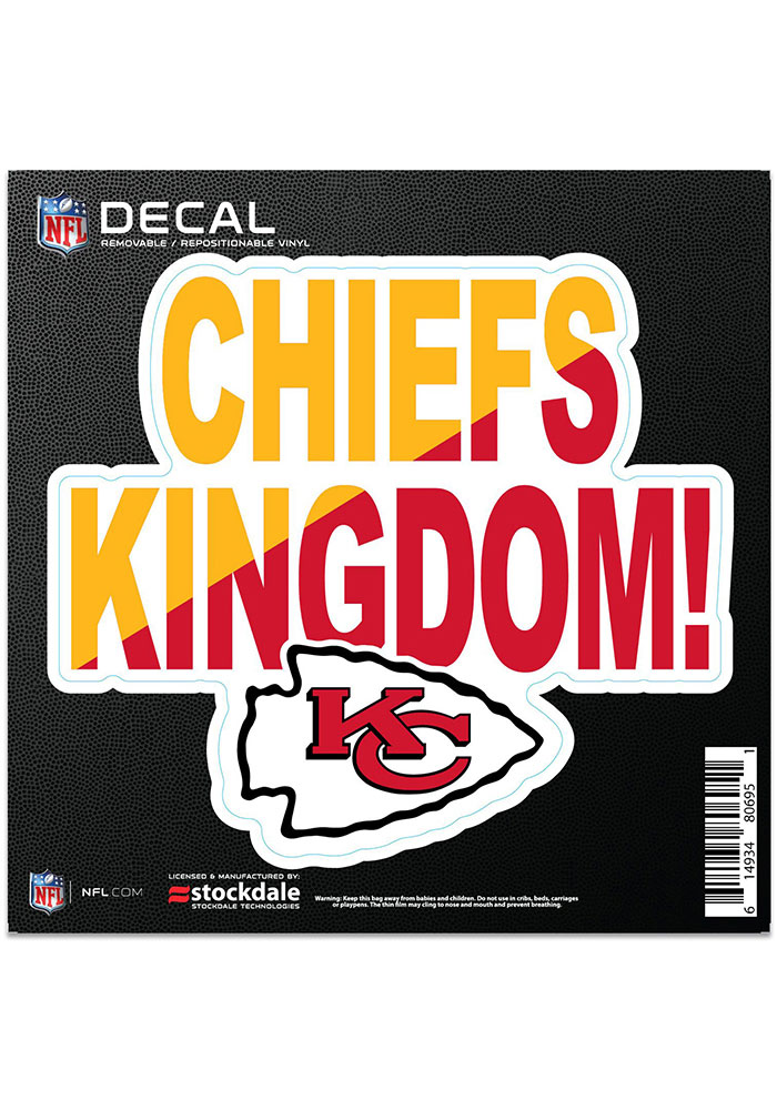 Kansas City Chiefs 6x6 Repositionable Expression Logo Auto Decal - Red - Image 1
