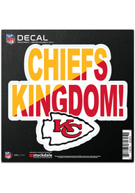 Kansas City Chiefs 6x6 Repositionable Expression Logo Auto Decal - Red