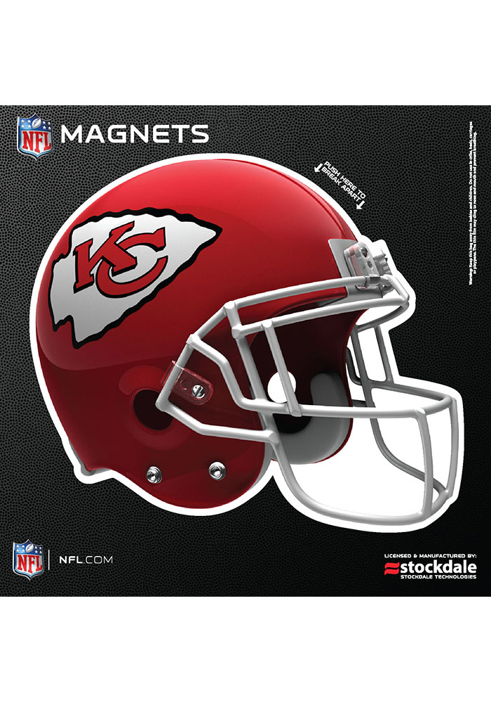 Kansas City Chiefs 6x6 3D Helmet Car Magnet - Red - Image 1