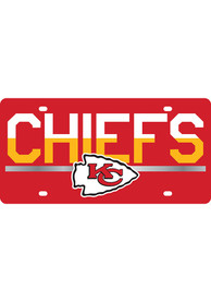 Kansas City Chiefs Acrylic DuoTone Logo Car Accessory License Plate